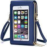 Roulens piccola borsa per telefono a tracolla per donna, borsa per cellulare in pelle PU, borse a tracolla con slot per carte