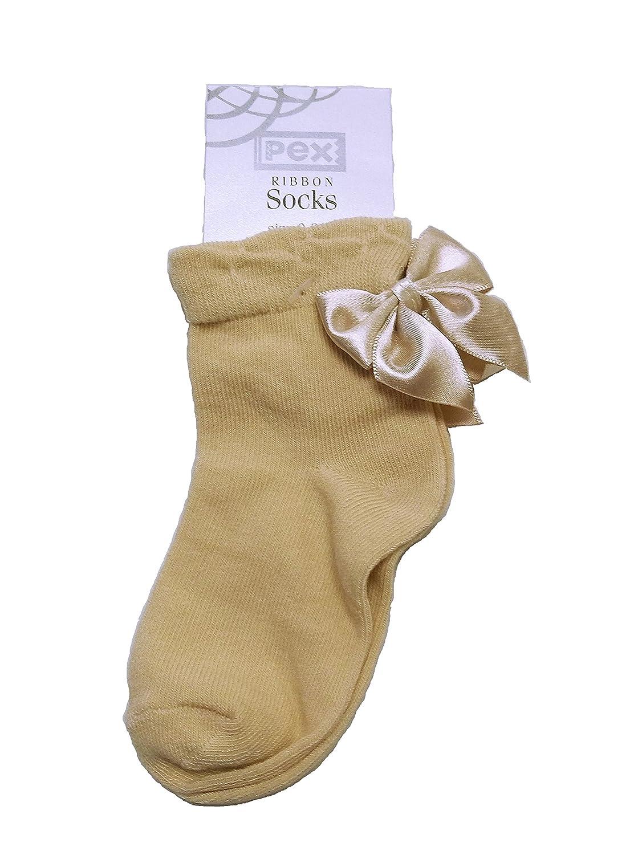 girls boys ankle spanish socks bow u0026 pom pom baby kids uk shoe