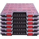 Set van 6 verschillende kleine onderdelen organisator assortiment doos gereedschapskist