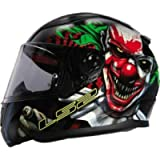 Full Face Motorbike Crash Rider Biker Sports Motorcycle Helmet LS2 FF353 RAPID HAPPY DREAMS GLOW-IN-THE-DARK SCARY CLOWN