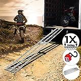 Jago® Auffahrrampe 340kg pro Rampe - 1er oder 2er Set, Aluminium, klappbar, Antirutsch - Laderampe, Auffahrschiene, Anhängerr