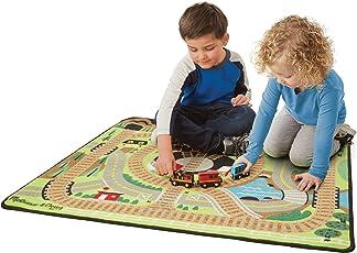 Melissa & Doug Round Train Rug Playset (Multicolour)