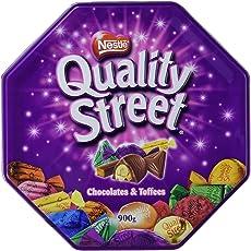 Nestle - Quality Street Chocolates & Toffees Tin Box - 898 Grams, Free ChoocKick Eco Friendly Pen
