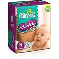 Pampers Active Baby Diapers, Small, 22 Count