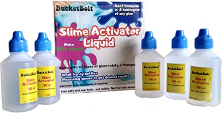 BucketBolt Slime Activator with Measuring Spoons (5 Bottles)