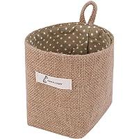 TOOGOO Coton et Lin Art Pot de Fleur Petit Sac Pendaison Jute Coton Point Panier de Rangement Sac de Rangement (Point…