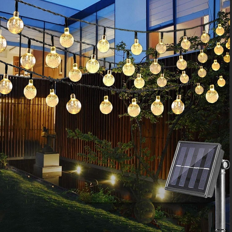 Nasharia Led Solar Lichterkette Mit Led Kugel 65m 30 Leds 8 Modi