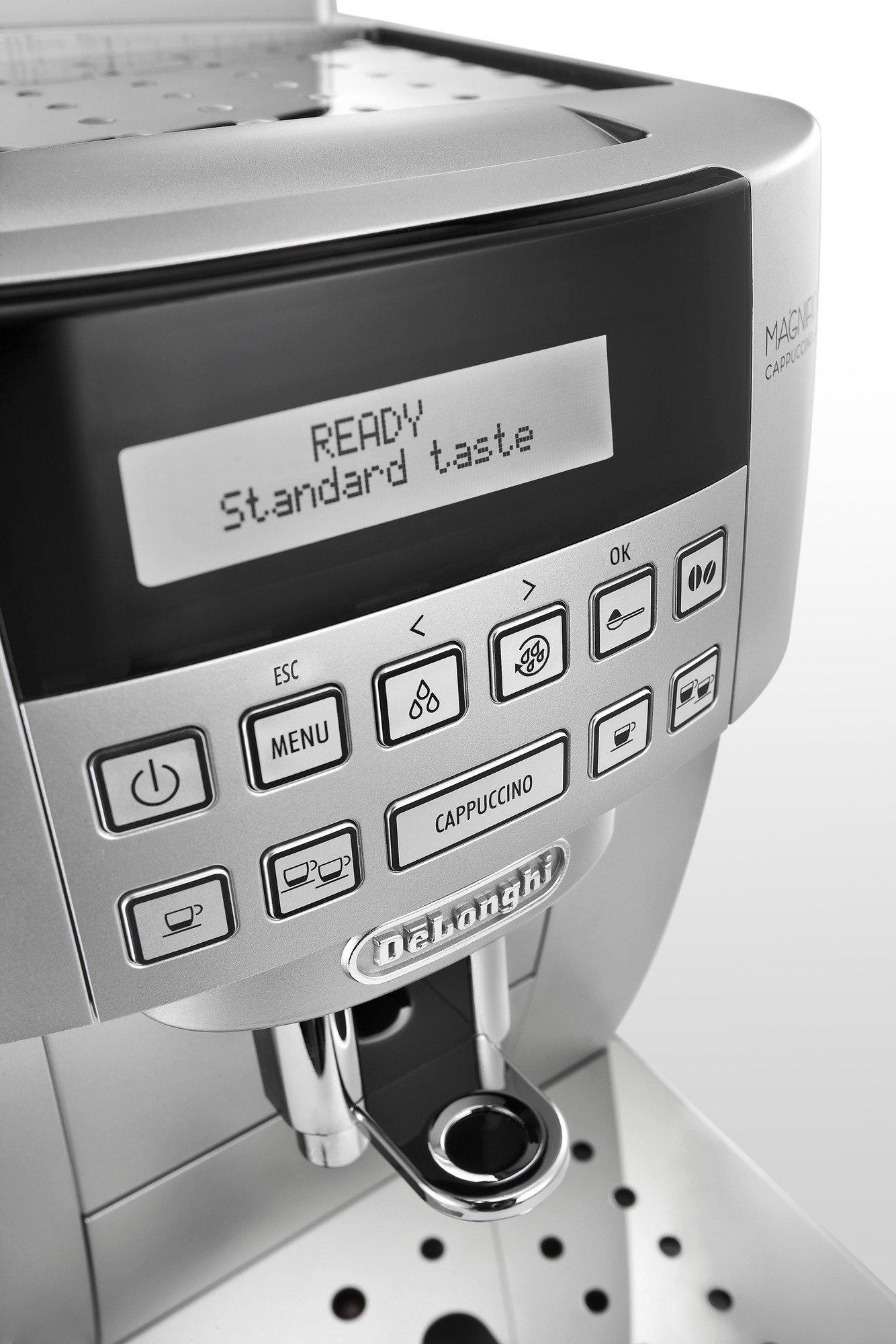 DeLonghi-ECAM-22360S-Kaffee-Vollautomat-18-Liter-15-bar-1450-Watt-Milchbehlter-silber