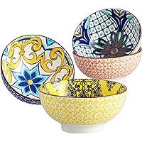 vancasso, Série Jasmin, Bols à Petit Déjeuner en Porcelaine 4 pièces, Bols à Céréales 15cm, Faïence Style Royal Arabe…
