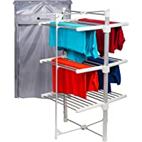 Homefront Electric Heated Clothes Airer Dryer Rack Indoor Deluxe EcoDry 3-Tier Drier with Complimentary Zip Up Cover for…
