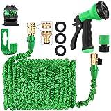 AIGUMI Garden Hose Pipes, 150FT Flexible Expandable Hose Pipe Expanding Magic Hose Pipes with Brass Connector/Spray Gun/Stora