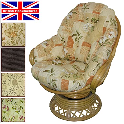 Conservatory Replacement Swivel Rocker CUSHIONS ONLY Wicker Rattan Furniture  Gilda® (Bamboo Natural): Amazon.co.uk: Garden U0026 Outdoors