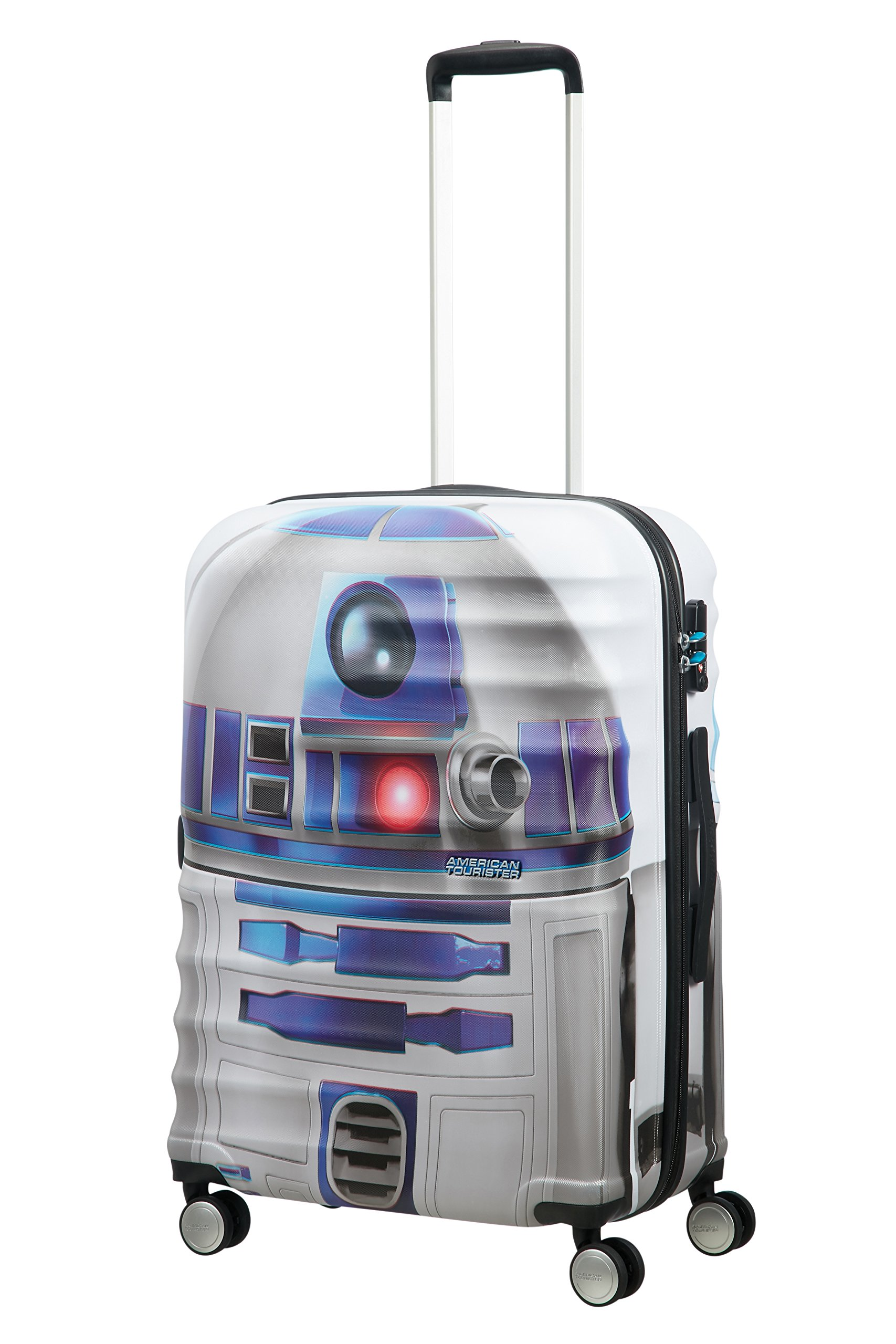 American tourister – Disney Wavebreaker Star Wars R2D2, Maleta Spinner 55/20, 55 cm, 36 L, 3.3 KG Multicolour (Star R2d2)