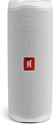 JBL Flip 5 Portable Waterproof Bluetooth Speaker with Hybrid Carrying Case (White)