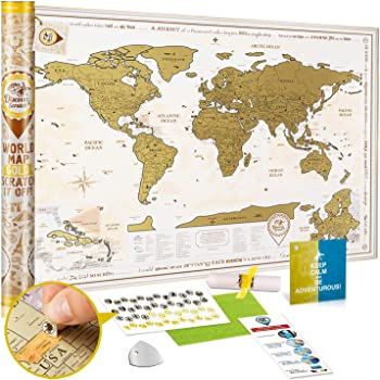 Wond3rland Cartina Geografica Del Mondo Da Grattare Con Paesi