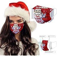 Blssom 10/20/30/40/50/100 Pièces Noël Masque Tissu Adulte Mignonne Non-tissé 3 Plis Protection Faciale Jetable…