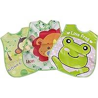 Futurekart T-Shirt Baby Bibs Plastic Bibs Waterproof Cover for Baby Feeding (3 in 1 Set Multicolor)