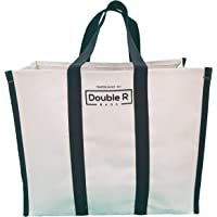 DOUBLE R BAGS Big Eco Cotton Canvas Shopping Bags for Carry Milk Grocery Fruits Vegetable with Reinforced Handles jhola…