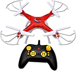 Toyshine 2.4 Ghz Remote Control Drone, 6 CH 6-Axis Quadcopter, One Key Return, Headless Mode, R/C Drone, Max Eagle, Red