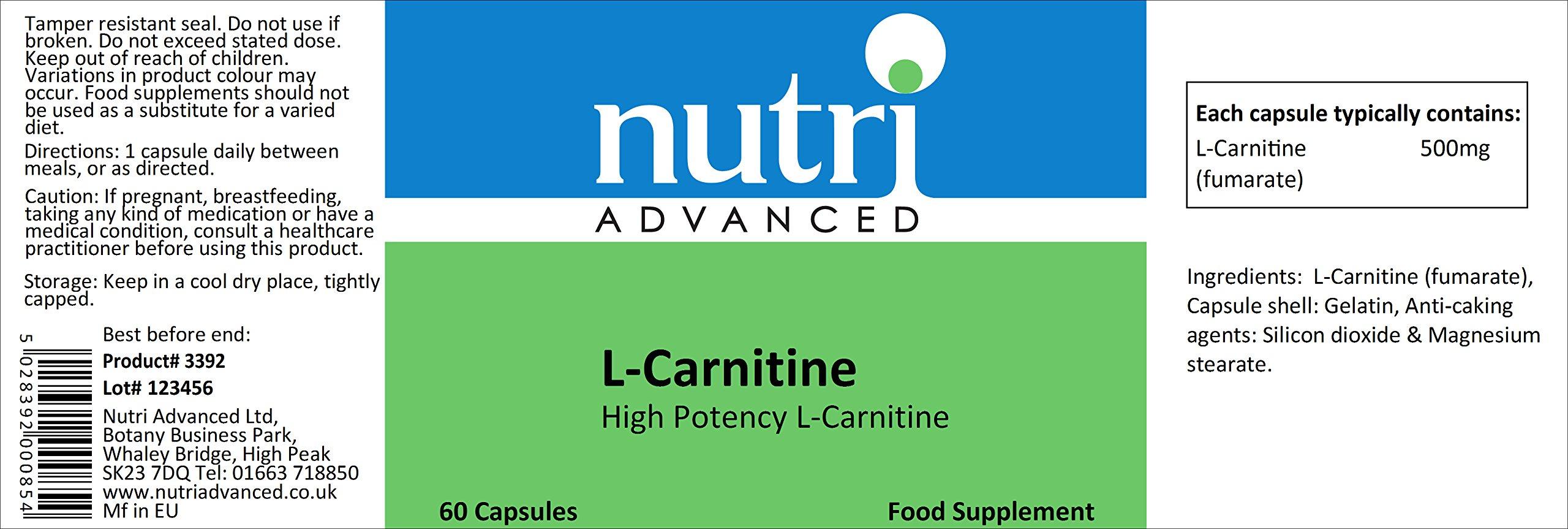 Nutri Advancede L-Carnitine 60 Capsules