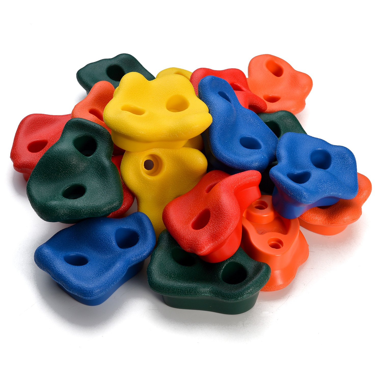 Texturado Escalada Escalada Escalada Sostiene Rockwall Juego de patio interior / al aire libre para niños Multicolor Assorted 20 piezas (Climbing Handles & Screws & Turnbobs) (Climbing Handles)
