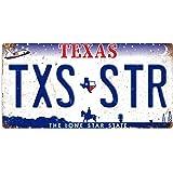 wtf   Plaques d'immatriculation américaines   Plaque murale artistique avec citation inspirante en métal, Métal, Texas