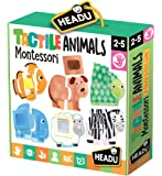 Headu- Tactile Animals Montessori Puzzle 1-4 Anni, Multicolore, IT20188
