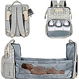 Lifelf Baby Wickelrucksack als Kinderbett mit großer Kapazität Wickelunterlage Kinderwagengurte, wasserdichte Windeltaschen R