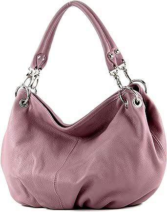 modamoda de - IT40 - ital. Damentasche aus Nappaleder/Leder