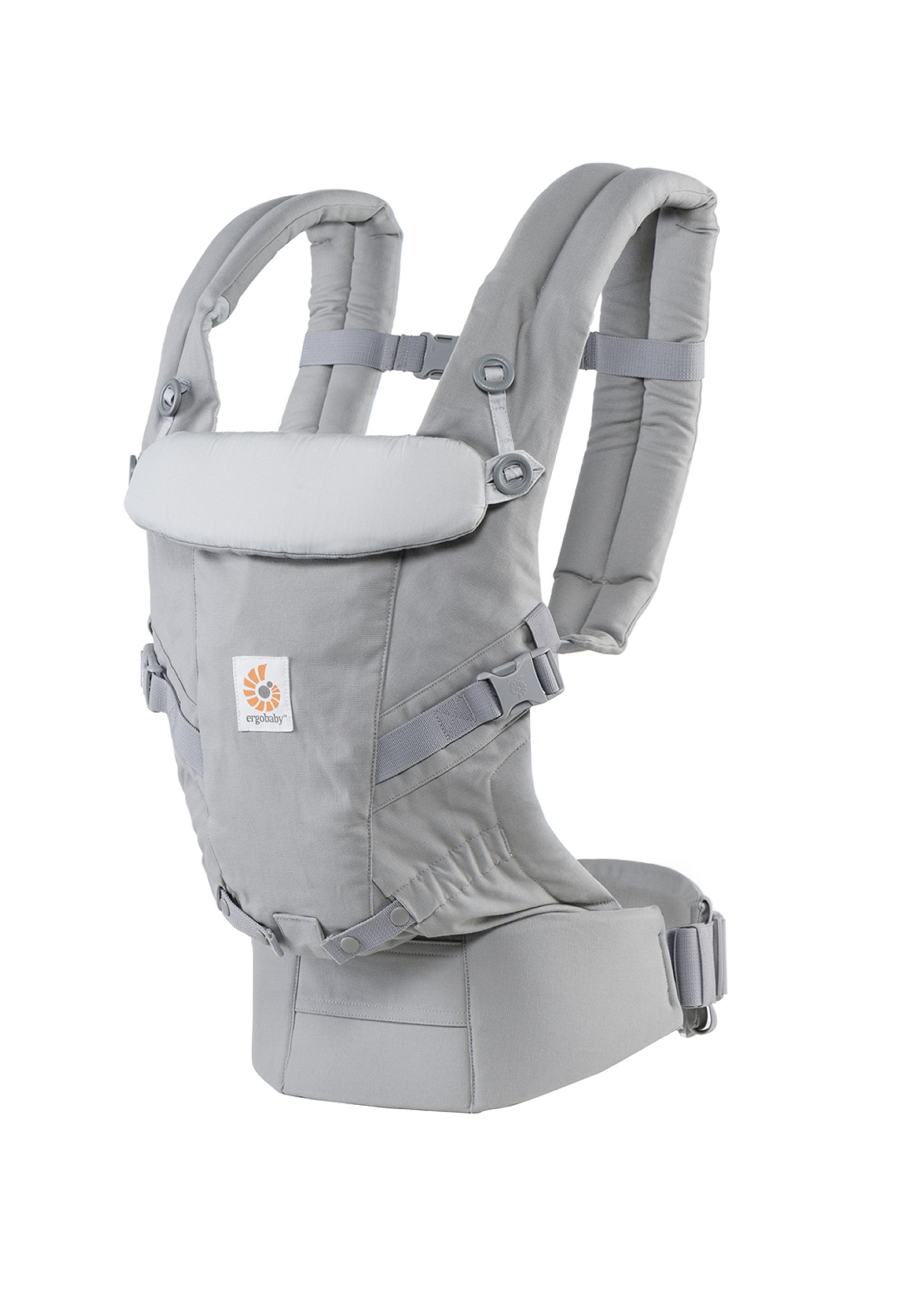 ErgoBaby Adapt Baby Carrier Grey Ergobaby Adapt to Every Baby Easy. Adjustable. Newborn to toddler. 5