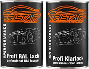 Tristarcolor Ral 9006 Weissaluminium Metallic Autolack Glänzend Dose Inkl Klarlack 2 0 Liter 2000 Ml Auto