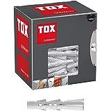 TOX Multifunctionele pluggen met omslagbare kraag Tetrafix 6 x 50 mm, pluggen voor bijna alle bouwmaterialen, 100 stuks, 0211