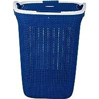 Nayasa Rope Laundry Basket/Laundry Bag - Multipurpose Basket - Plastic Laundry Basket - Small - Blue (B07HDN1BMN)