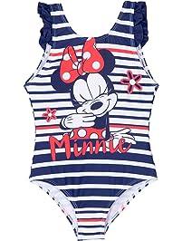 31e9ddc4feba2 Disney Minnie Mouse Girls Swimsuits One Piece Swimwear Swimming Costume 2-8  Years - Red