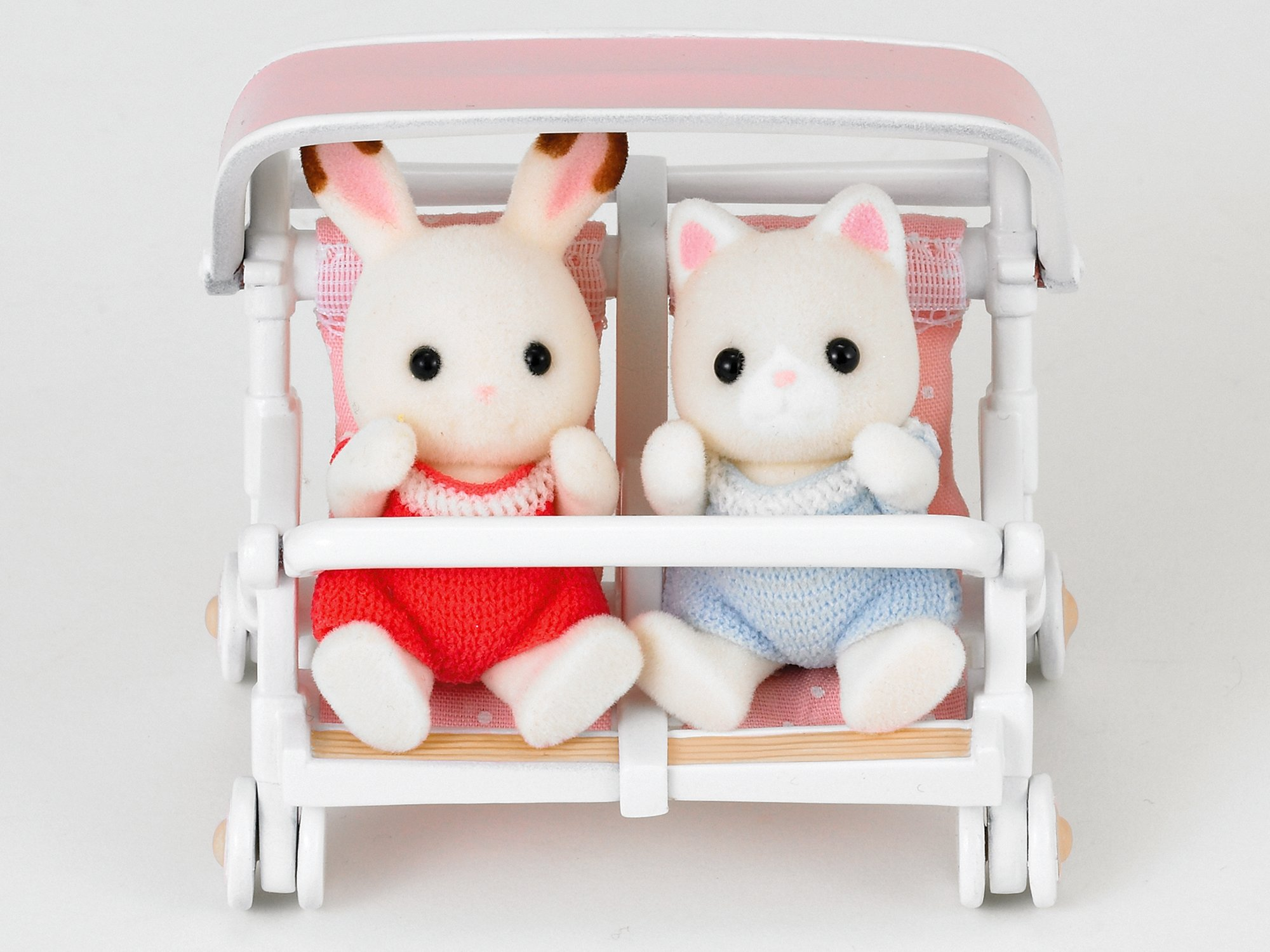 Sylvanian Families - Double Pushchair Sylvanian Families Accessory for your Sylvanian family home Pushchair for two babies Well-made with fine attention to detail 4