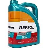 REPSOL HMRELI5055405L motorolie Elite TDI 5W40 5 Lt, transparant/goud, eenheidsmaat