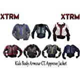 MOTORBIKE KIDS BODY ARMOUR XTRM JUNIOR PROTECTION JACKET Motocross Quad MX Off-Road Cycling Riding Kart Racing Professional Sports CE Approve Full Body Deflector Knee Shin Guard