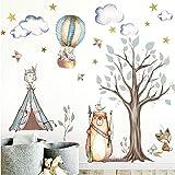 Little Deco DL305 klistermärke inhemsk amerikansk skog djur I vägg bild tält stjärnor väggklistermärke barns sovrum babydekor