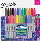 Sharpie marqueurs permanents, pointe fine, Cosmic Colour, édition limitée, 24unités