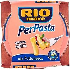 Rio Mare per Pasta Puttanesca con Tonno, Pomodori, Olive e Capperi - 160 gr