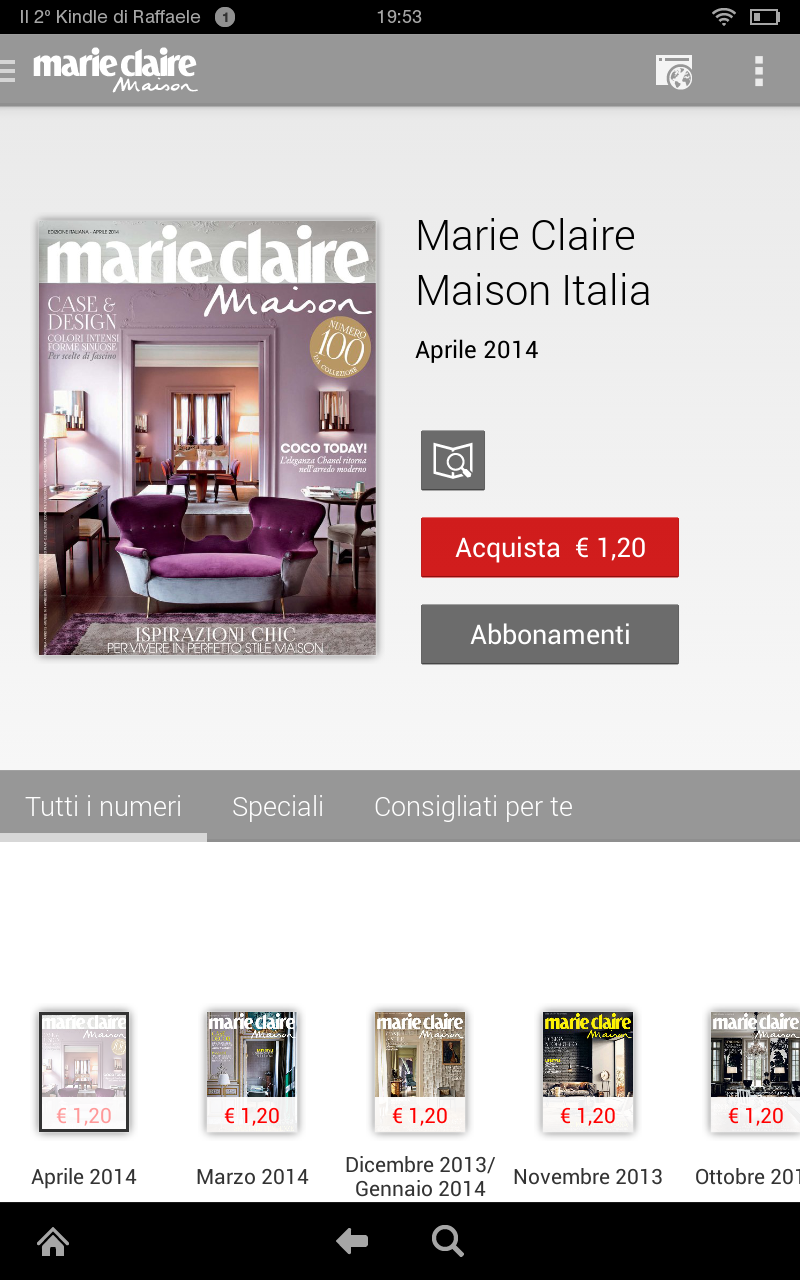 Marie claire maison italia appstore for android for Hearst magazines italia stage