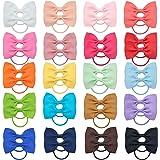 40pcs neonate fiocchi per capelli cravatte per capelli nastro in grosgrain elastico per capelli elastico supporto coda di cav