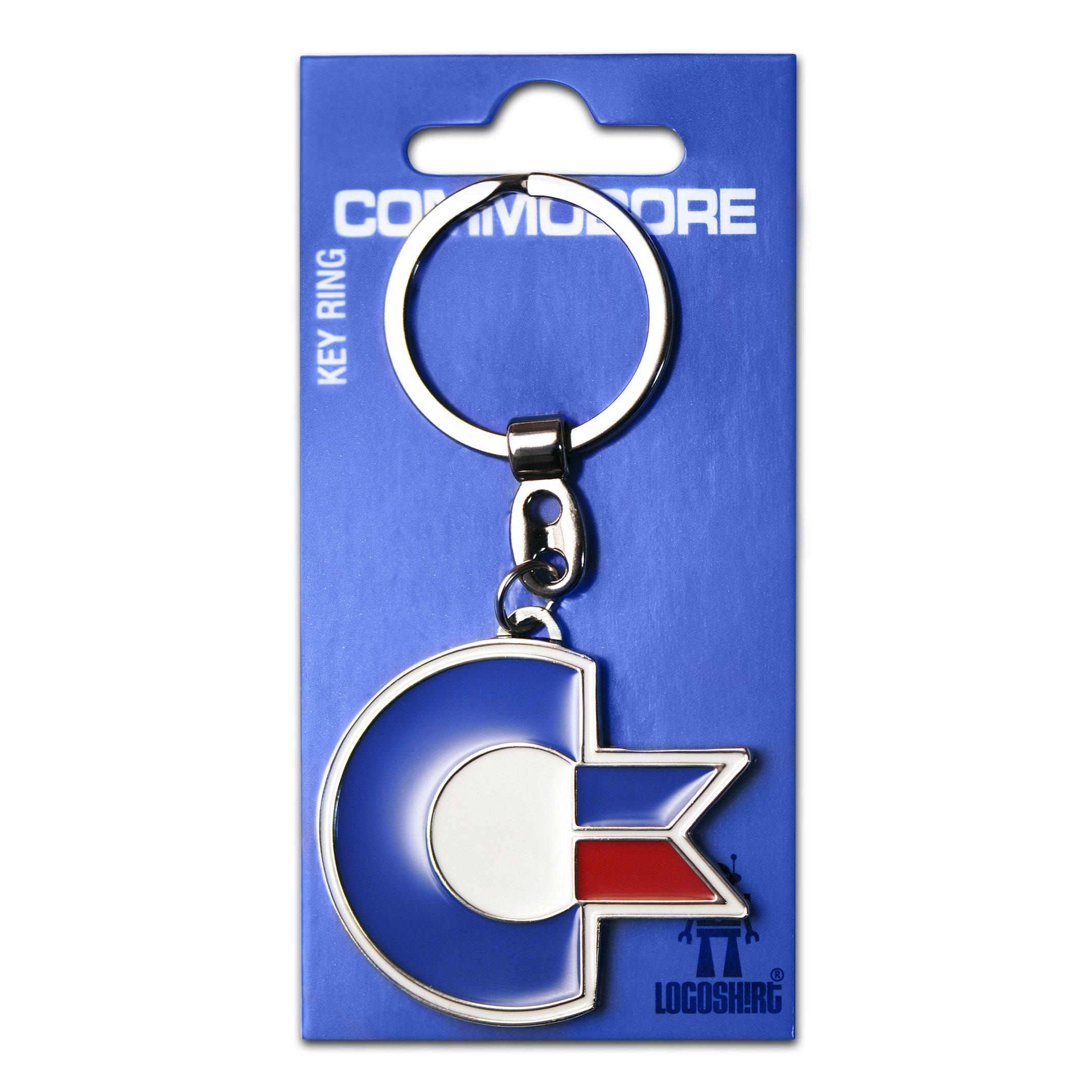 Schlüsselanhänger Commodore Logo – C64 Schlüsselanhänger – Nerd – Key-Ring – farbig – Lizenziertes Originaldesign – Logoshirt