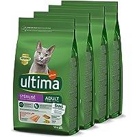 Ultima Croquettes Stérilisés Adulte au Saumon pour Chat: Pack 4 x 1,5kg - Total 6 kg