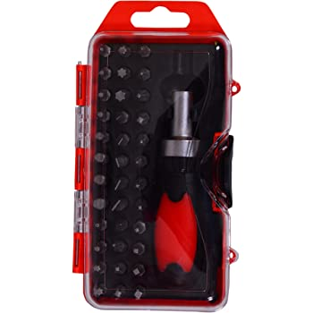 Visko VT9905 Ratchet Handle Screw Driver Set (Red, 38-Pieces)