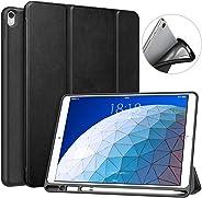 MoKo Case Fit New iPad Air 3 2019(3rd Generation 10.5 inch)/iPad Pro 10.5 2017 with Apple Pencil Holder - Premium Slim Light