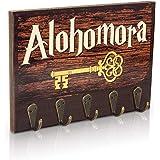 getDigital Colgador para Llaves Alohomora | Organizador Cuelga Llaves Pared con 5 Ganchos de Metal | 21x15cm