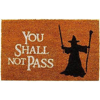 getDigital You Shall not Pass Fußmatte - Hochwertige Türmatte mit berühmter Szene aus Der Herr der Ringe - Großartiges Geschenk für Fantasy Fans