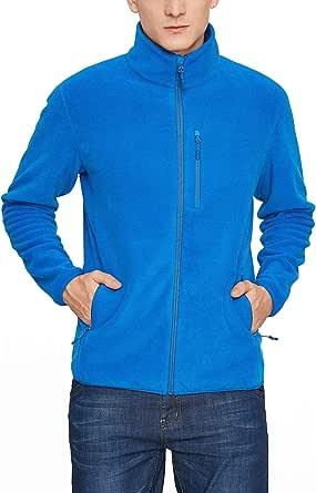 LAPASA Giacca in Pile per Uomo Outdoor Anti-Vento con Tasche Zip M72