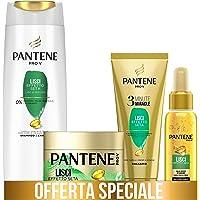 Pantene Pro-V Balsamo 3 Minute Miracle, Lisci Effetto Seta, 150 ml + Maschera 300 ml + Olio Secco 100 ml + Shampoo 225…